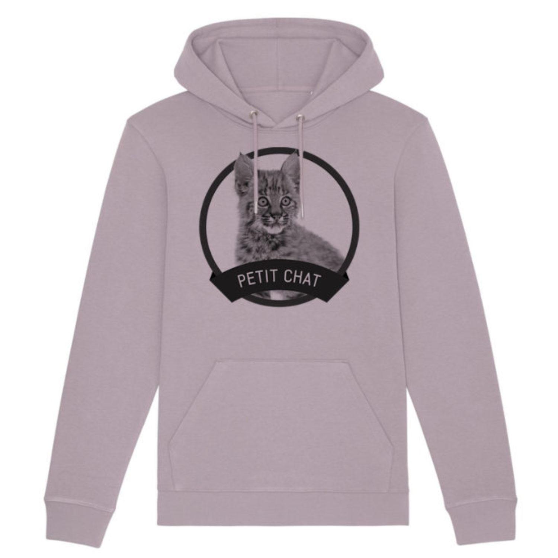Sweatshirt capuche adulte - Petit chat