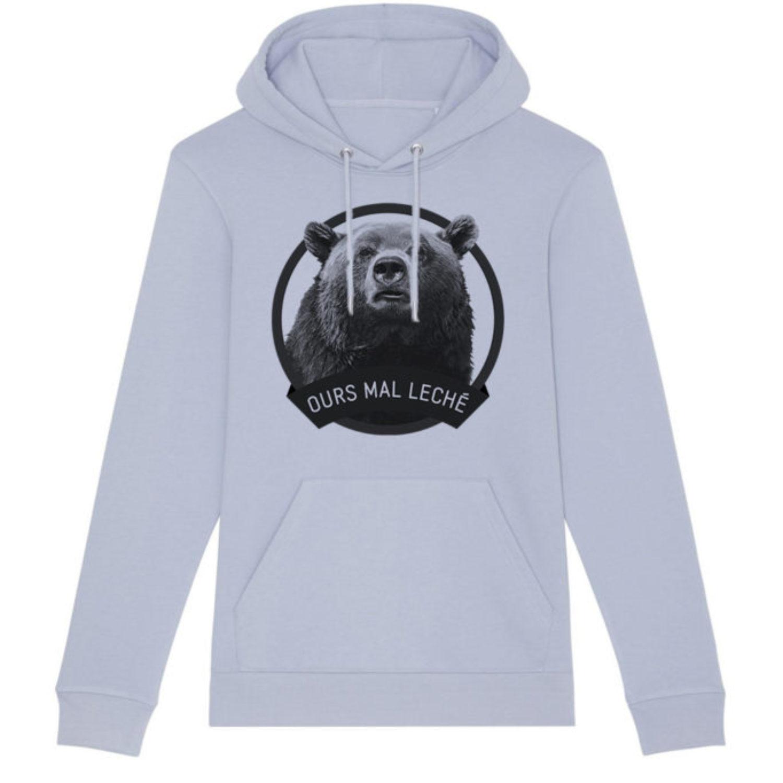 Sweatshirt capuche adulte - Ours mal leché