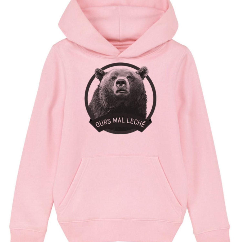 Sweatshirt capuche enfant - Ours mal leché