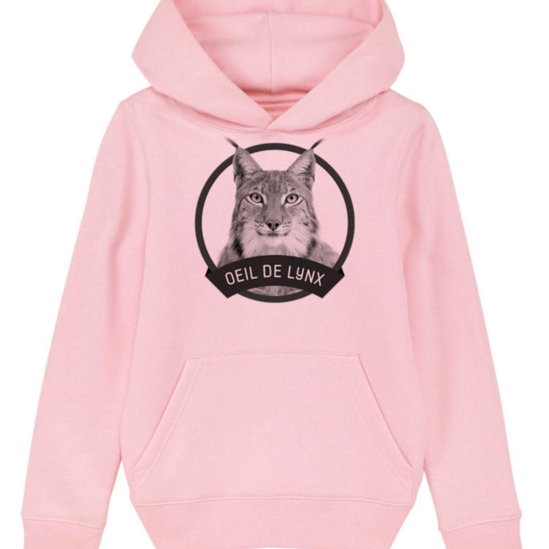 Sweatshirt capuche enfant - Œil de lynx