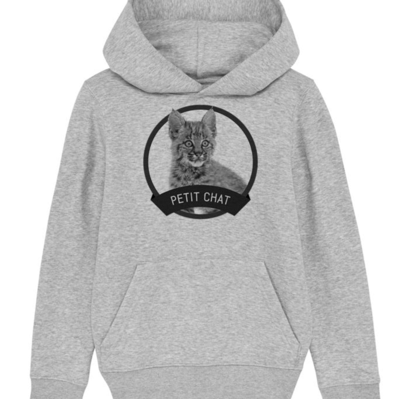 Sweatshirt capuche enfant - Petit chat