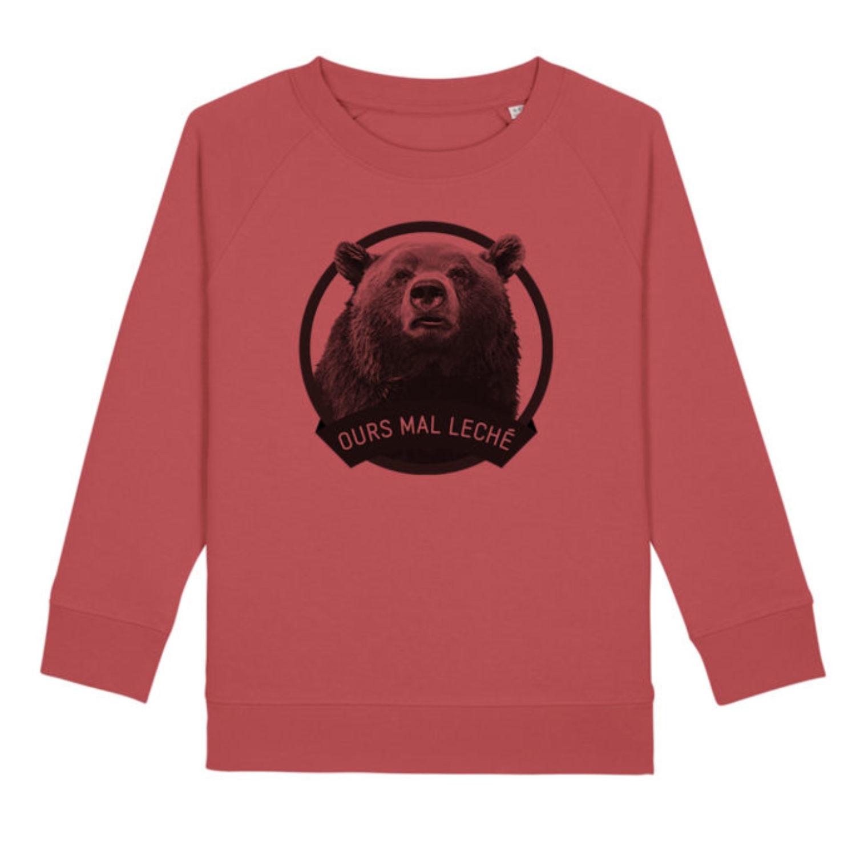 Sweatshirt Enfant - Ours mal leché